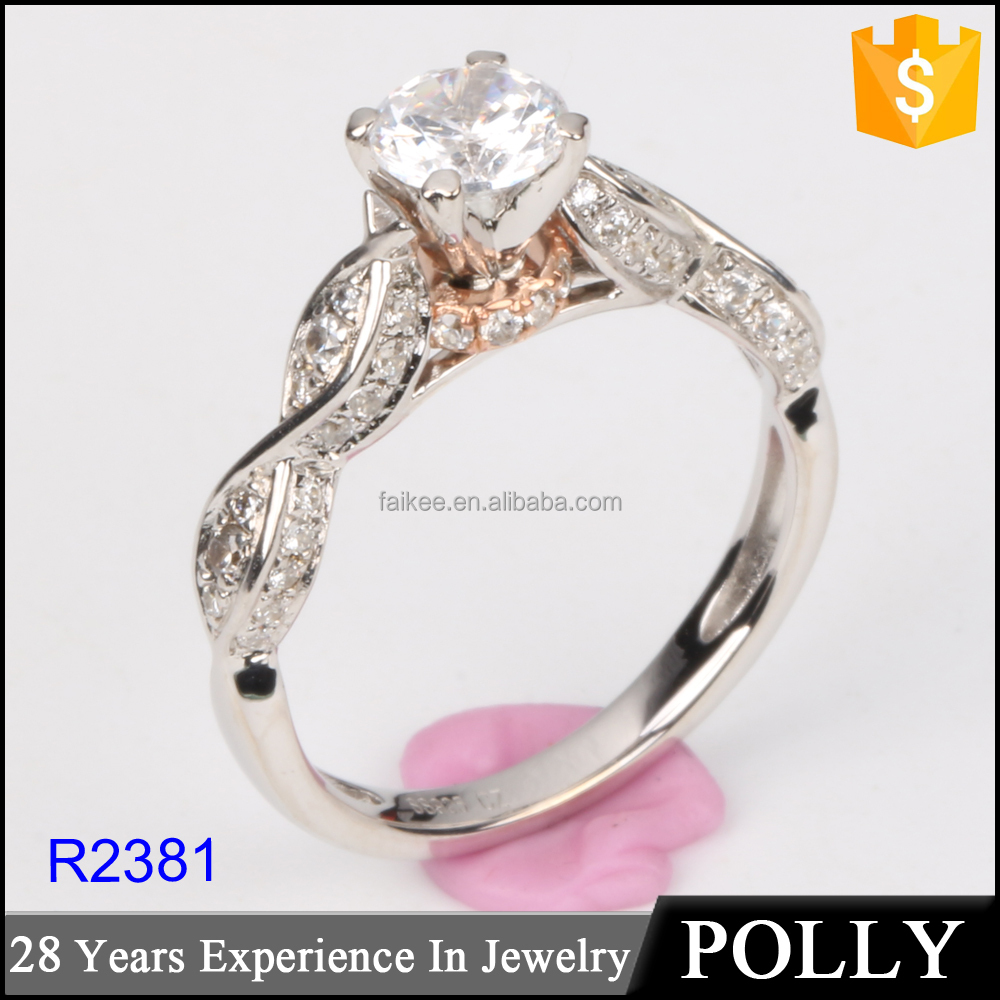 guangzhou panyu factory new model design ladies finger silver 925 ring