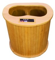 2015 Cheap infrared barrel sauna for foot therapy with wood massager(CE/RoSH/ISO)