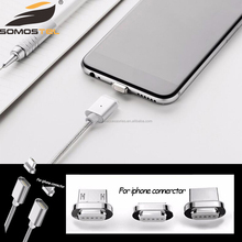 USB Braided Charging Cable Magnetic Adapter Charger For iphone android