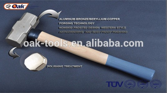 Professional hammer with steel handle sledge hammer with plastic handle double face sledge hammer with CE certificate