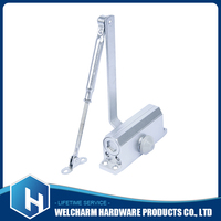 Remote control heavy duty automatic 90 degree hold open aluminium door closer