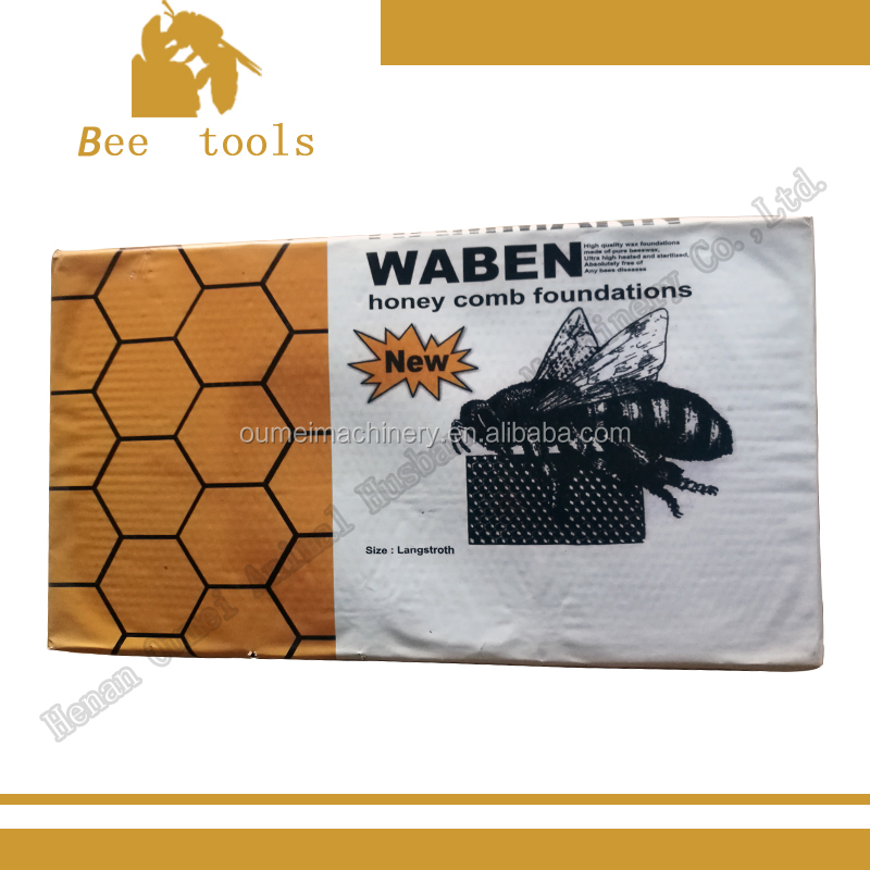 natural beeswax foundation sheet for beehive frames