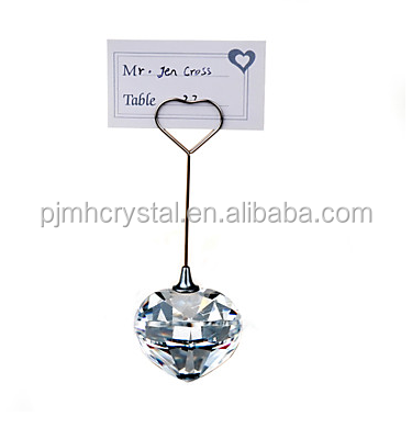 crystal glass place card holder MH-C009