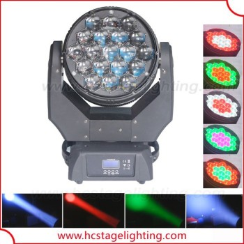 stage light 2015 19x15w rgbw led wash zoom moving head light