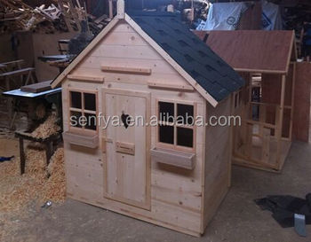 Plastic wooden playhouse made in China