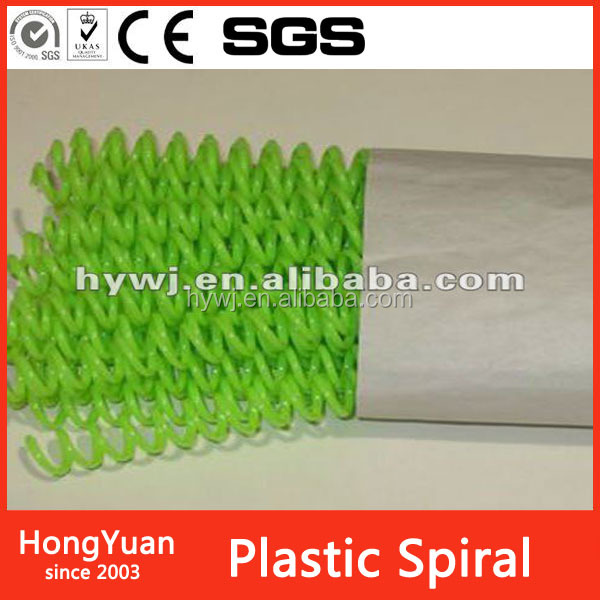 "coil diameter 1-3/4"" max binding book thickness 38mm plastic binding spiral coil binding material"