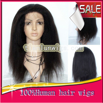 Free Shipping Best Brazilian Italian Yaki Straight Human Hair Lace front Wigs For African Americans Baby Hair In Stock