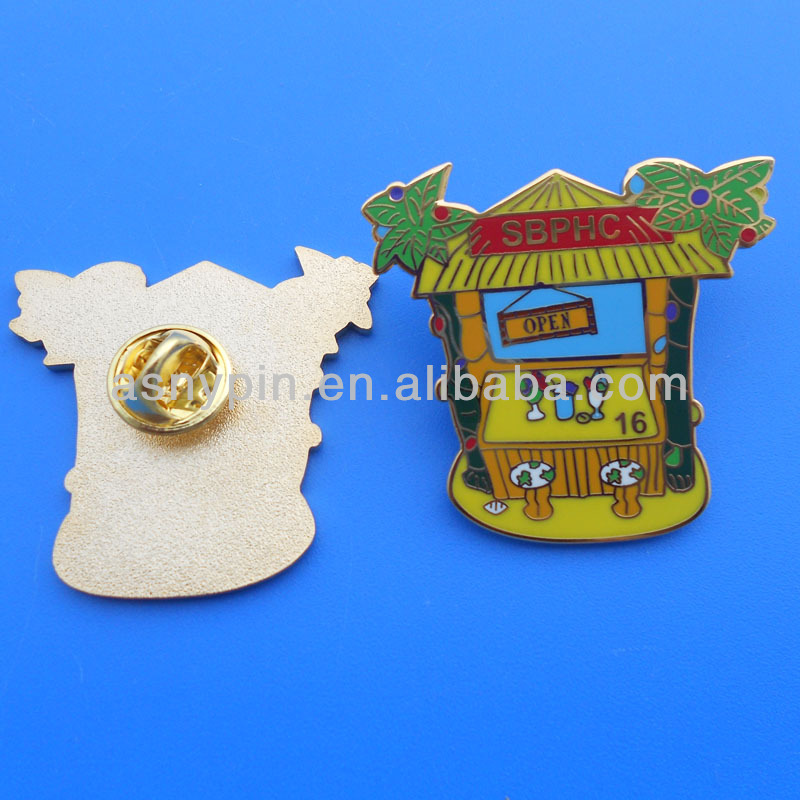 imitation cloisonne process lapel pins with clutch back fastening
