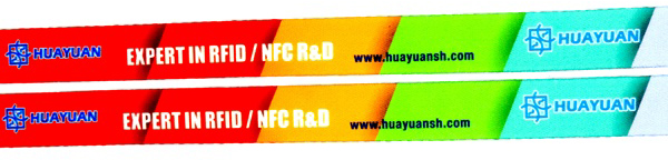 HUAYUAN Customized Coloful Festival Woven Fabric Wristbands