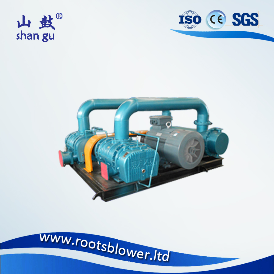 Three impellers double stage sewage treatment air blower
