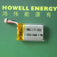 E Car Battery 502030 3.7V 200mAh rechargeable lithium polymer battery 0.74wh