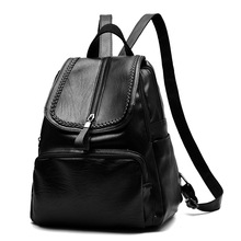 2018 new design classic pu leather Customized <strong>backpack</strong> for women