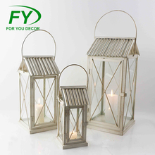 ML-2656 Set Of 3 High Quality And Fancy Customized White Wedding Vintage Metal Lanterns