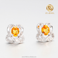 Wholesale light weight 925 silver elegant earring stud for ladies