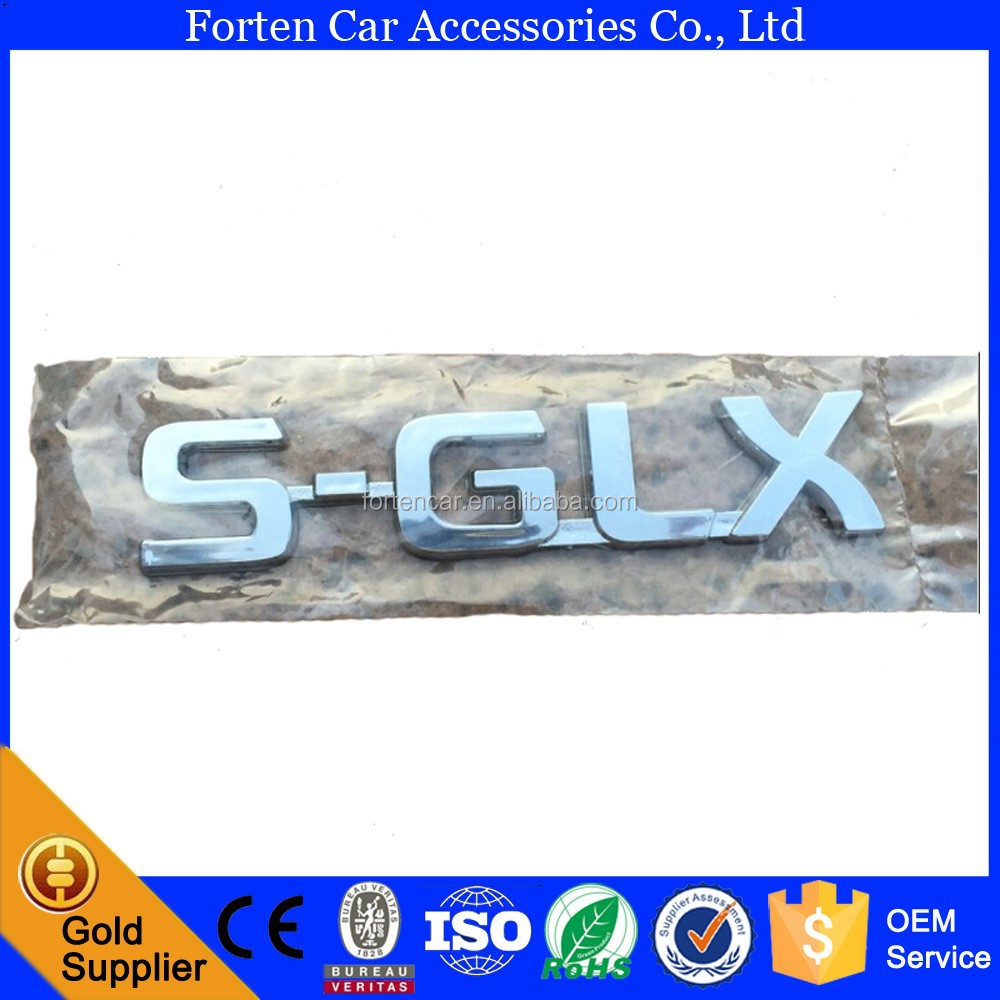 Chrome ABS Car SGLX 3D Emblem Sticker Rear Badge Emblems