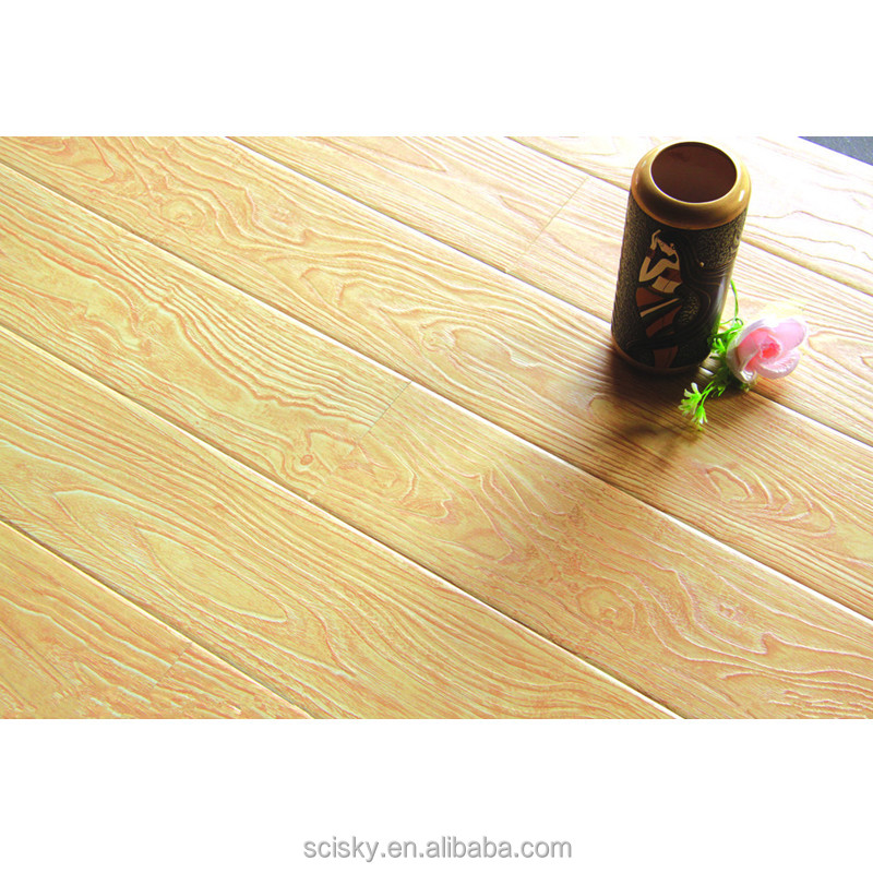 Indonisian Hot Selling Middle Size 7mm Hard Wood Flooring Laminate Anti Scratch Wood Flooring Wood Engineering Parquet