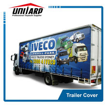 UV resistance waterproof 800gsm PVC knife coated trailer cover