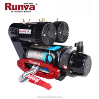 Runva high quality Most popular best price CE Fast Speed 10000 lbs electric small electric winch with synthetic rope