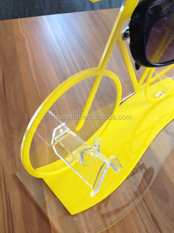 bicycle shape acrylic display cases for sunglasses