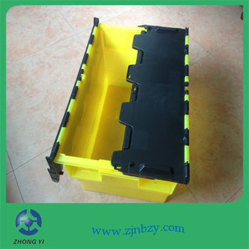 3 Plastic logistics containers plastic turnover storage box stackable cookie storage box