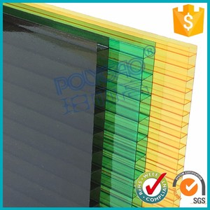 high quality 6mm twin wall Sun SheetsType polycarbonate solar pc panel