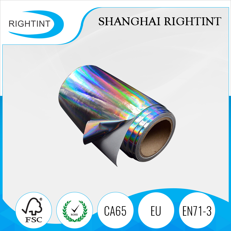 Hot sale holographic film adhesive in rolls for sticker