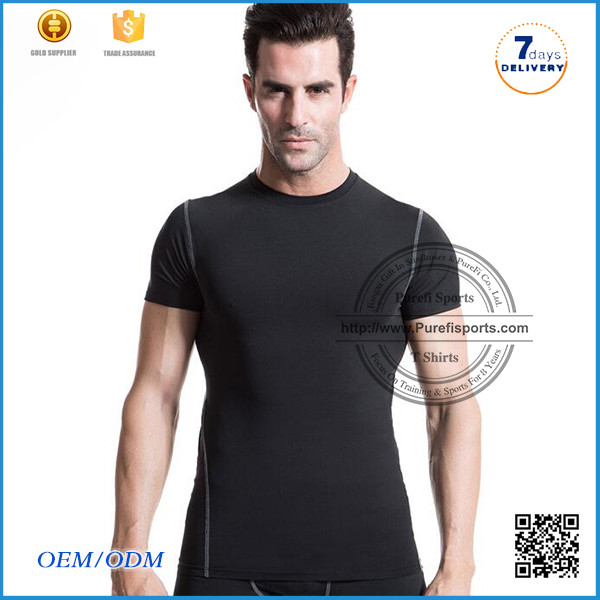 Sublimation Leather Sleeve T shirts Custom Print T-shirt With Leather Sleeves All Over Printed For Men