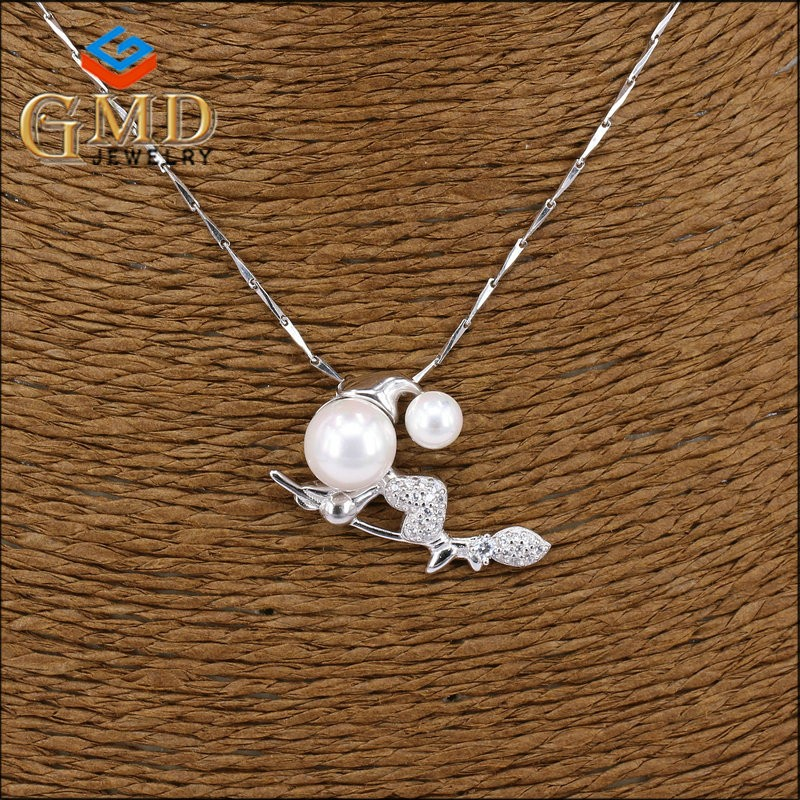 Wholesale italian jewelry personalized natural stone rhodium plated quality silver charms