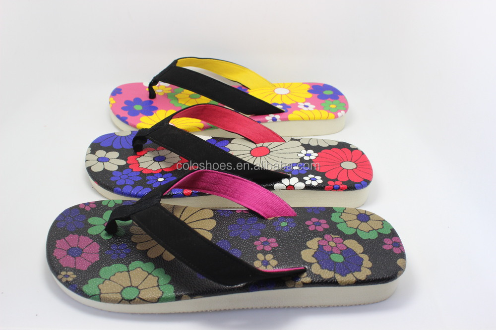 Coface Open Toe Colorful Sole Kids PU Sandal Thongs