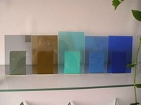 decorative exterior tinted tempered glass wall panel