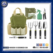 Wholesale 9 Piece Garden Tools Set with Storage Tote