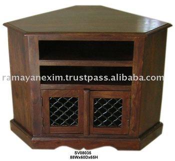 Esquina de madera muebles de la india de madera entretenimiento sala muebles tv dvd unidad hogar - Muebles de la india ...