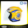 CE FUSHI Fashion yellow ABS open face ladies motorcycle helmet