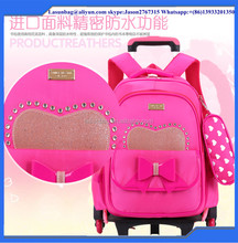 2016 Fashion New Design Kids Trolley Backpack School Bags for Girls Boys