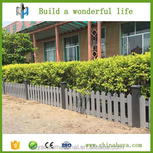 New Design Outdoor WPC Garden Fence Wood Plastic Composite Fencing