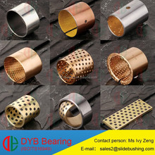 China manufacture slide bushings with material brass/bimetal/steel/bronze/graphite/PTFE bush with size 8540 8580 85100