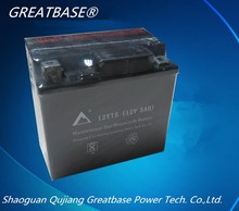 GREATBASE best price maintenance free motorcycle battery 12v 5ah/10hr mf battery