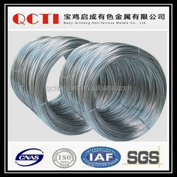 Baoji QCTI manufacturer Supply high precision 2.0 nitinol shape memory wire in stock