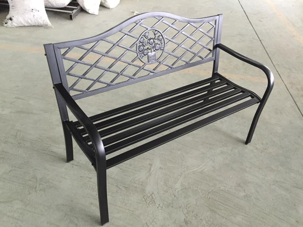 Metal Bench in public or garden cast iron casting