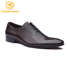 Wholesale customized mens fashion cow skin oxford leather dress shoes