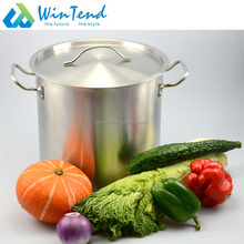 Restaurant stainless steel large hot cooking stock pot for sale