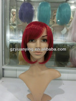 New arrival short skirt scene red cosplay wig in pigtails