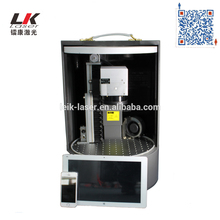 IPG Gold Silver Fiber Laser 20W Mini Laser Marking Machine For Jewelry Logo