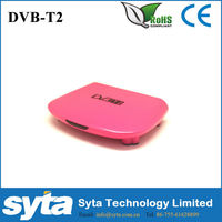 Home mini dvb t2 set top box russia! Super Mini Plastic dvb-t2 decoder MSD7802 OEM/ODM are available