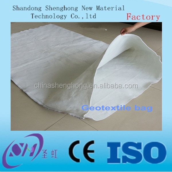Black color PP non woven geotextile sand bag slop protection bag dam bag
