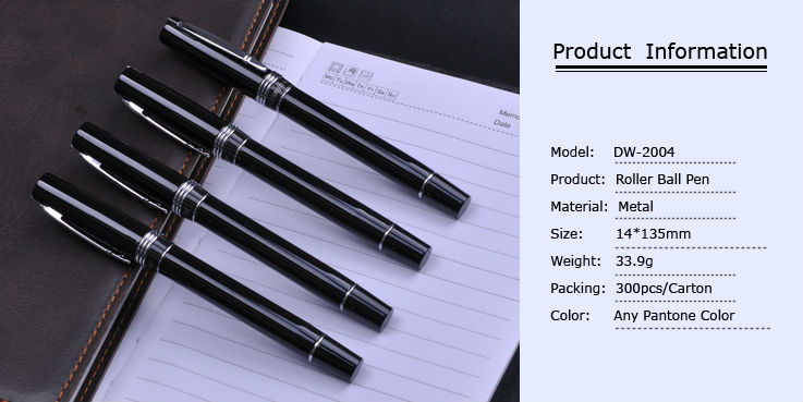 Aluminium ball pen with logo promotional metal roller ball pen