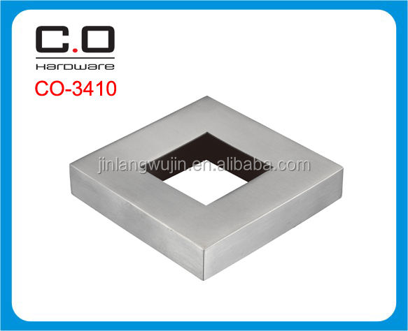 stainless steel square handrail base plate cover CO-3410
