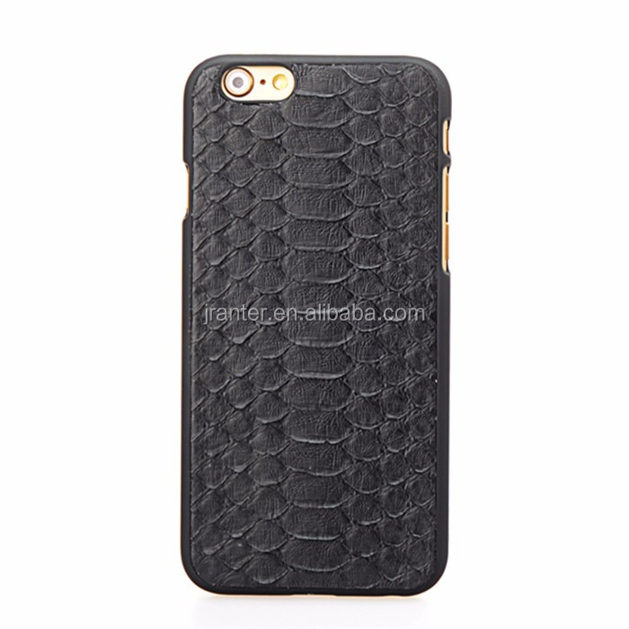 Custom Cover for iPhone 6s Genuine Python Leather Safety Cover for Mobile Phone