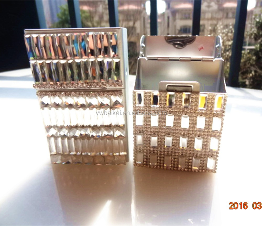 new style aluminum bling cigarette case