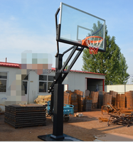 Good Quality Full Size Adjustable Inground Outdoor basketball Hoops/Goal with Padding (Actual Pictures)